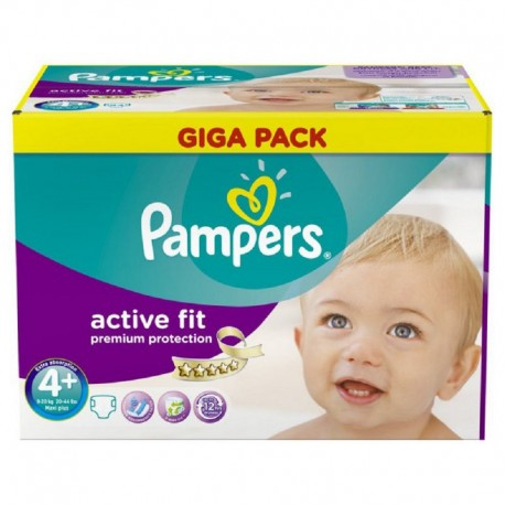 210 Couches Pampers Active Fit Taille 4 Pas Cher Sur Choupinet