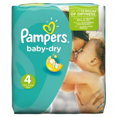 31 Couches Pampers Baby Dry Taille 4 A Petit Prix Sur Choupinet