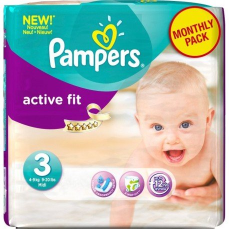 120 couches pampers active fit taille 3 bas prix sur choupinet - Couche pampers taille 3 pas cher ...