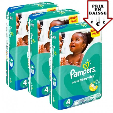 588 Couches Pampers Active Baby Dry Taille 4 A Petit Prix Sur Choupinet